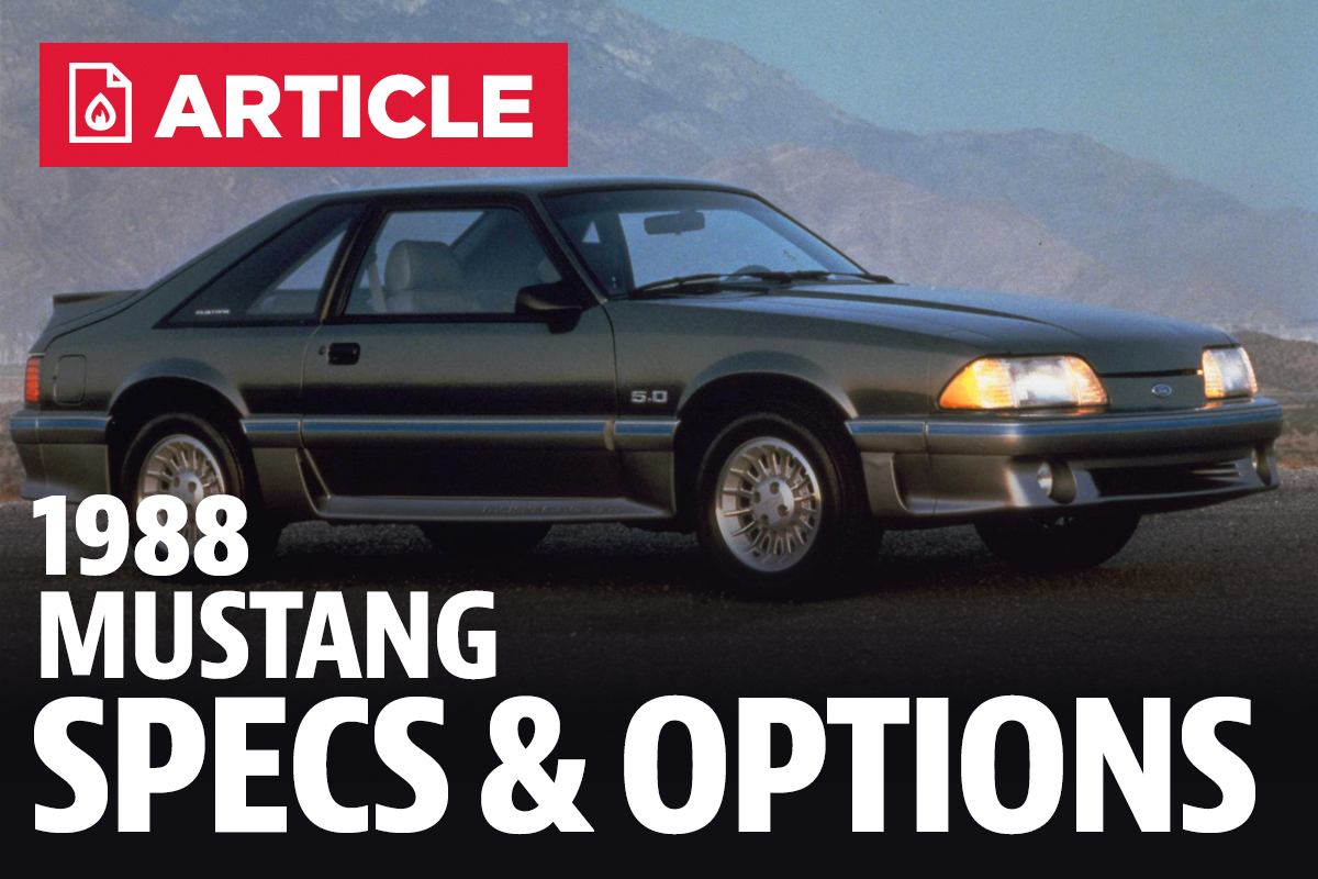 1988 Ford Mustang Specs Fog Lights