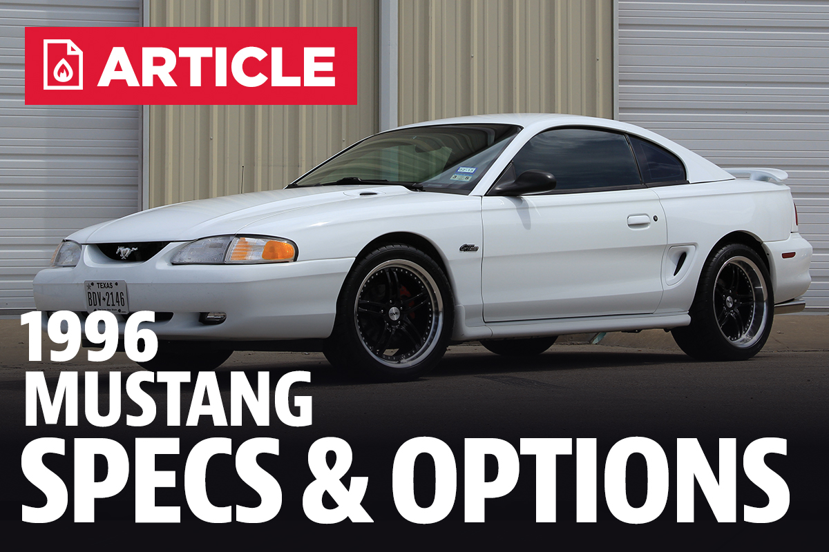 All Types 1996 mustang : 1996 Ford Mustang Specs - LMR.com
