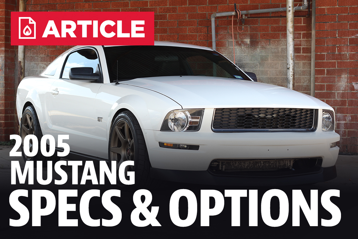 2005 ford mustang specs lmr com