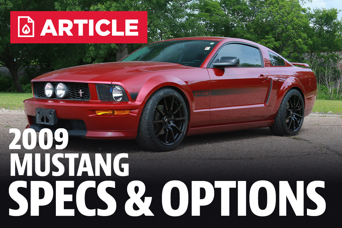 2009 ford mustang specs lmr com