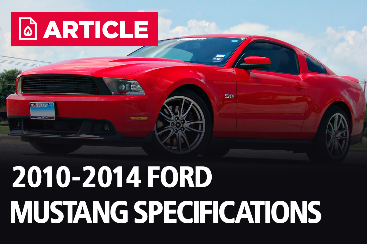 2010 2014 ford mustang specifications lmr com