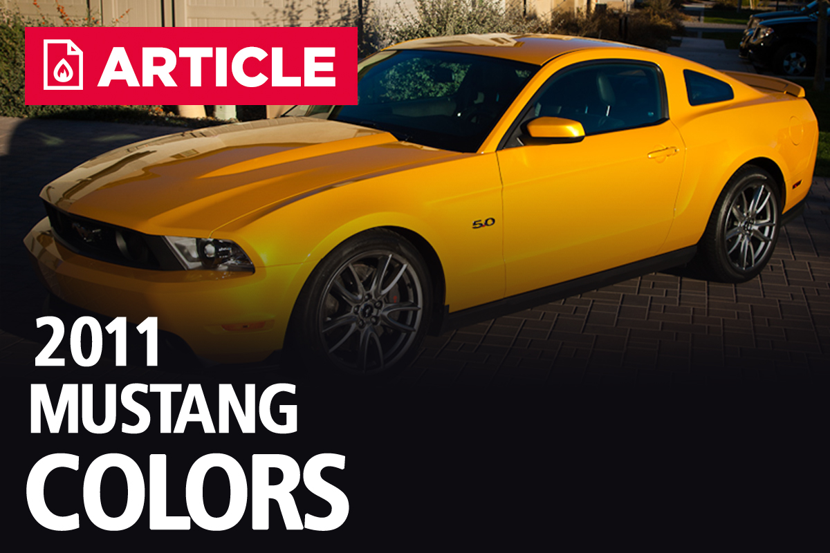 2011 Mustang Colors Options Photos Color Codes Gt Fuel Filter