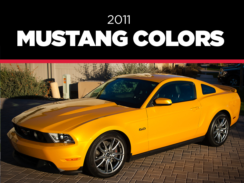 2011 Mustang Colors - Options, Photos, & Color Codes - 2011 Mustang Colors - Options, Photos, & Color Codes