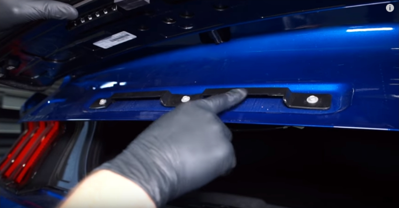 How To: Install 2015-18 Mustang Ford Racing Deck Lid Trim Panel - How To: Install 2015-18 Mustang Ford Racing Deck Lid Trim Panel