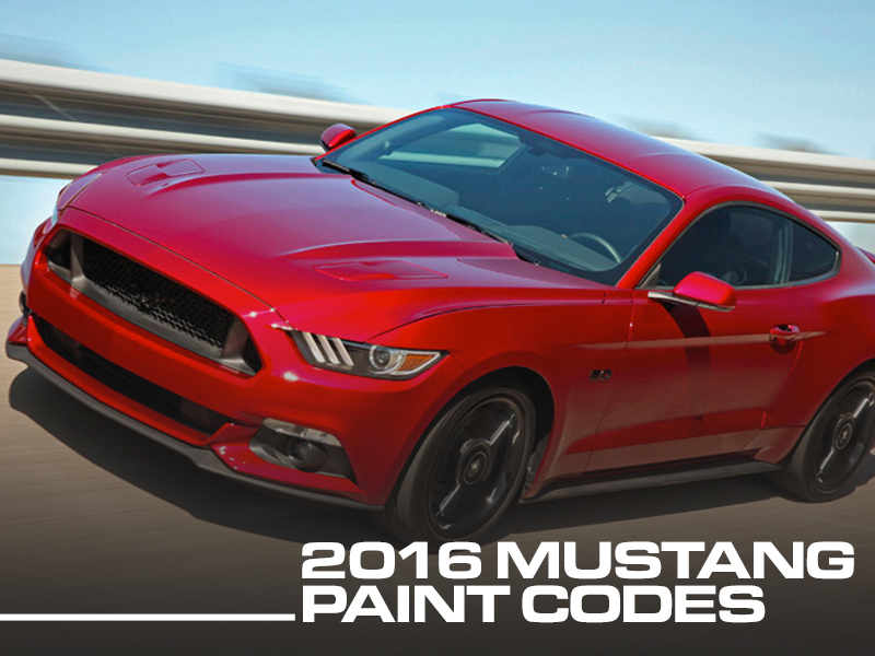 2018 F150 Colors >> 2016 Mustang Colors, Color Codes, & Photos - LMR.com