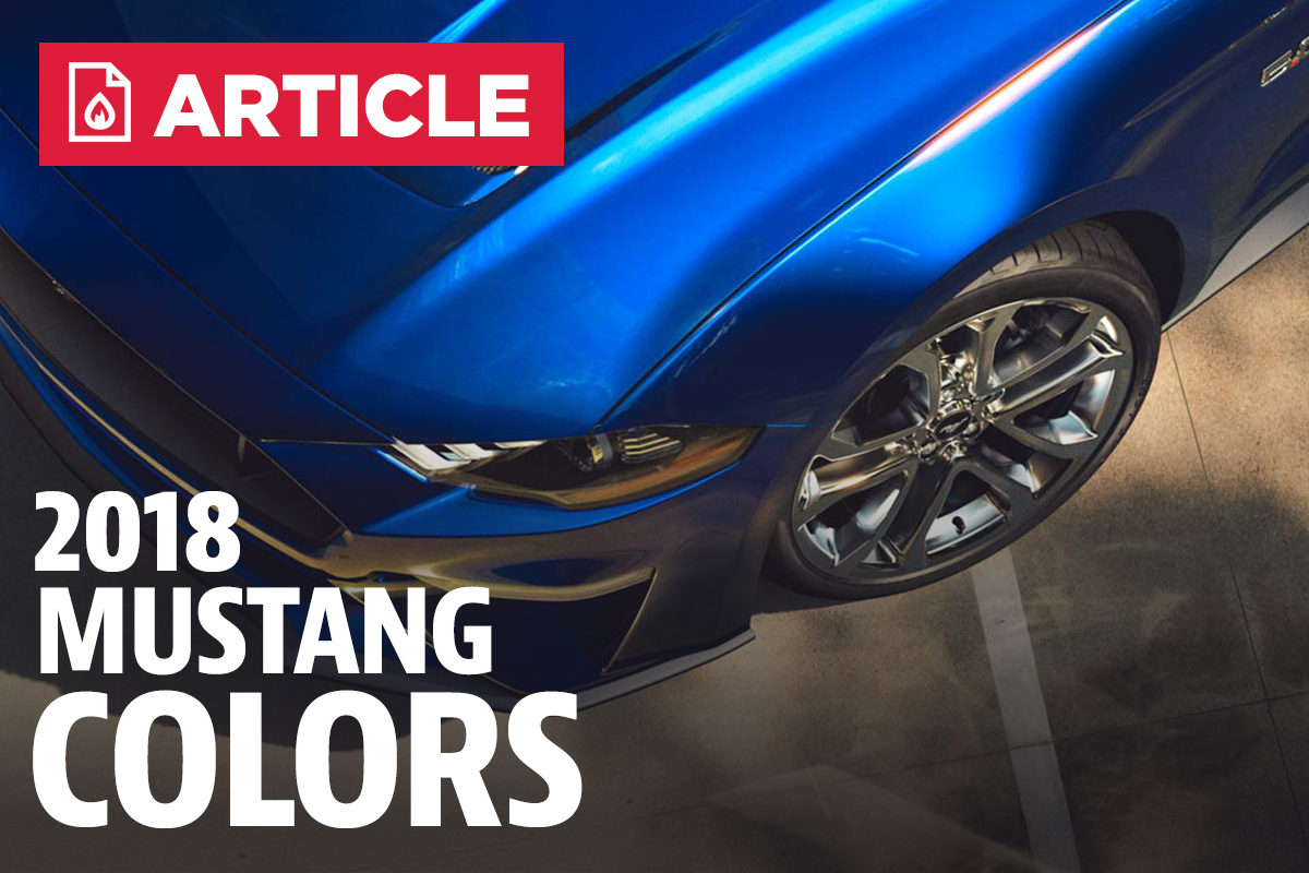 2018 mustang colors options photos color codes