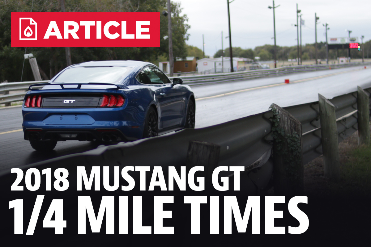 Ford Mustang Gt Quarter Mile Time