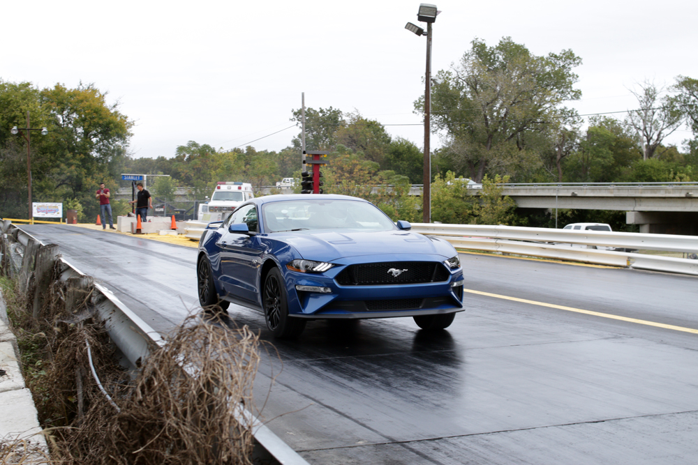 The  Mustang Gt Performance Pack With  Speed Automatic Weighed In At Lbs With A Fuel Tank Of Gas The Car Was Tracked With Half A Tank Of Gas