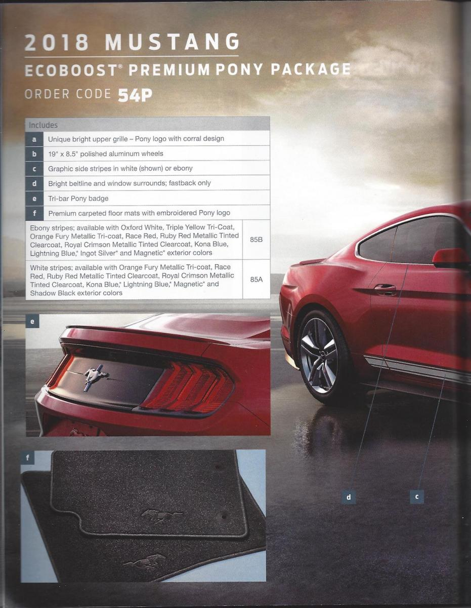2018 Mustang Order Guide - 2018 Ford Mustang Order Guide