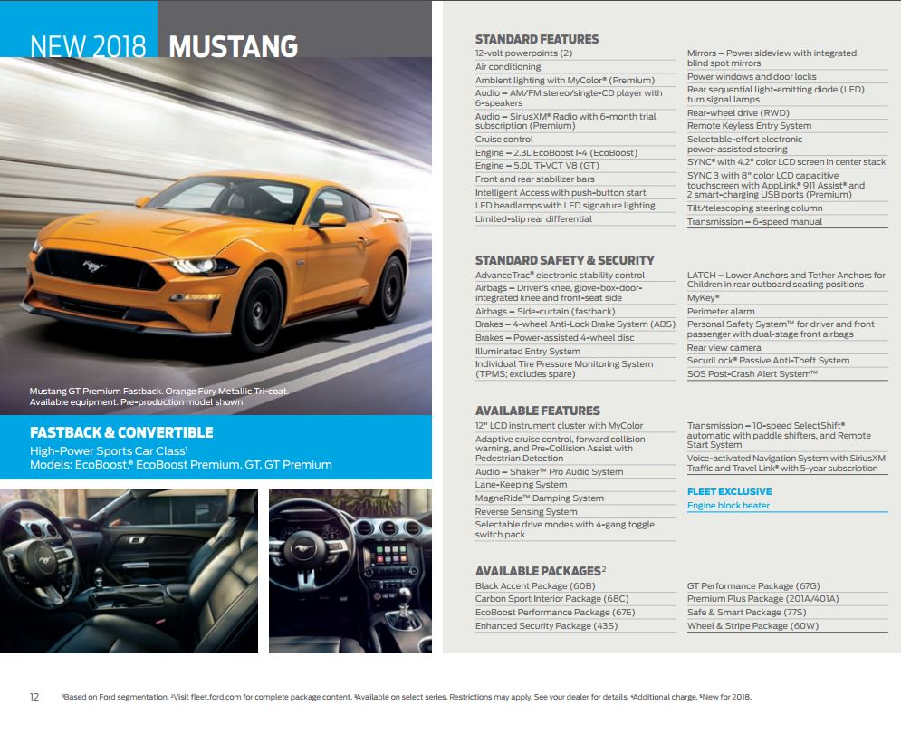 2018 Mustang Specs & Options - 2018 Mustang Options ...