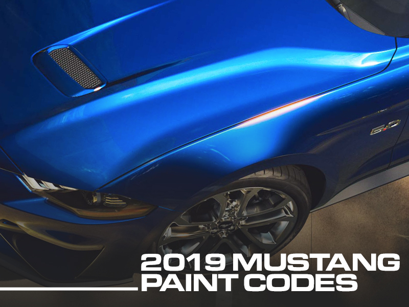 Ford Mustang Paint Codes