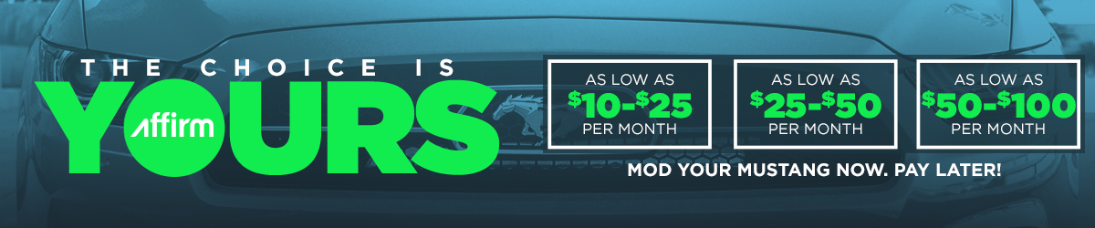 Mustang Parts As Low as $10/month with Affirm!