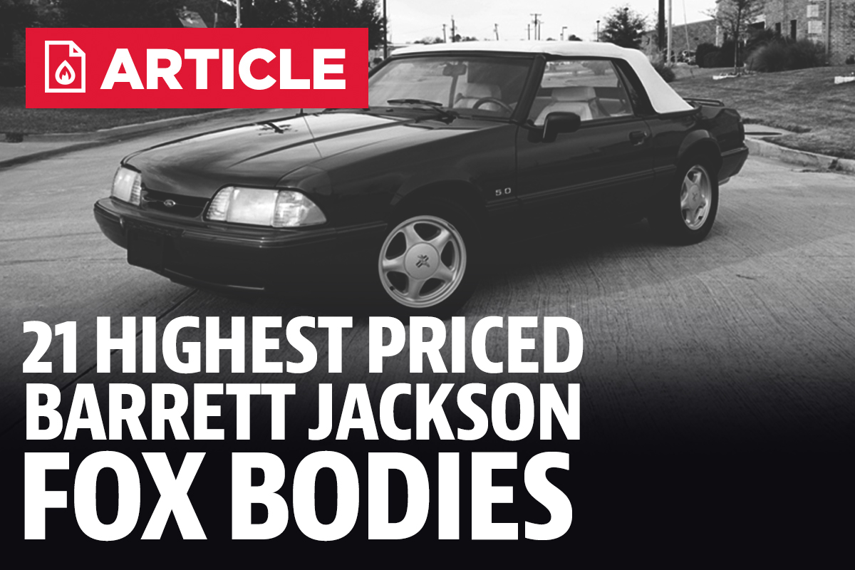 21 Highest Priced Fox Bodies At Barrett Jackson Scottsdale 2018 1983 Mustang Wiring Harness