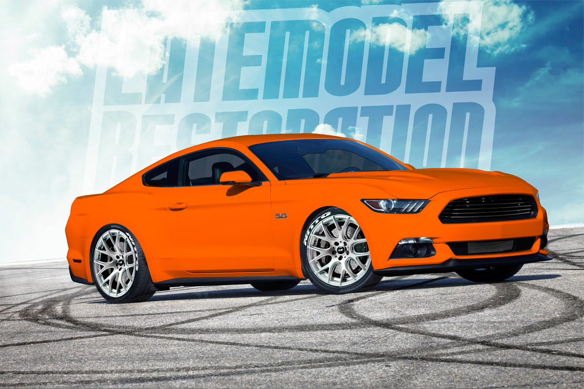 Rendering our competition orange 2015 mustang gt lmr