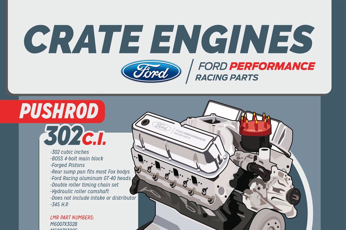 Ford performance mustang crate engines lmr com