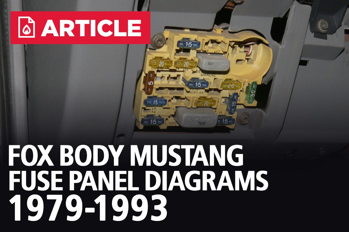 Fox Body Mustang Fuse Panel Diagrams 1979 1993 Lmr