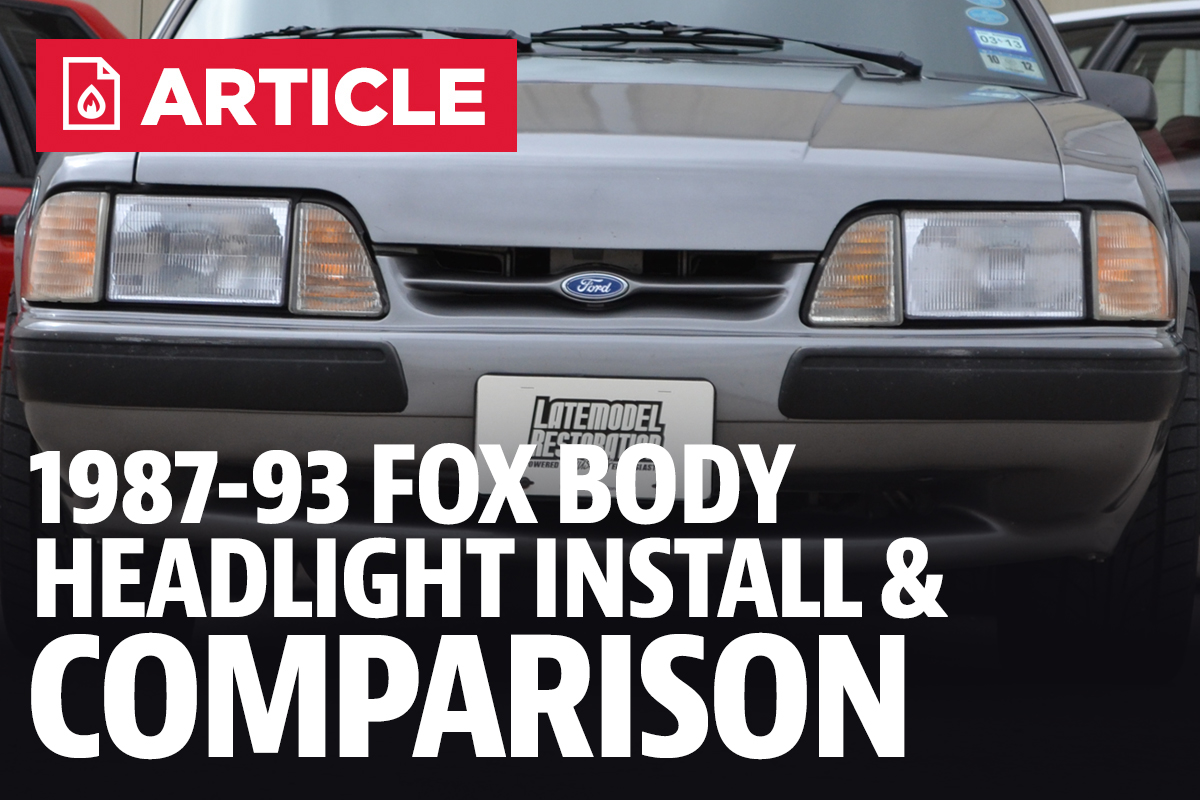 Fox Body Mustang Headlight Installation Comparison 87 93 1988 Fog Lights
