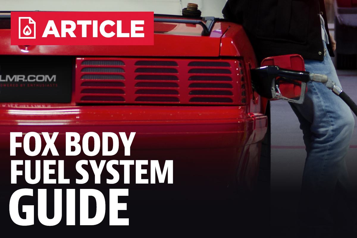 Fox Body Fuel System Guide 2003 Mustang Filter