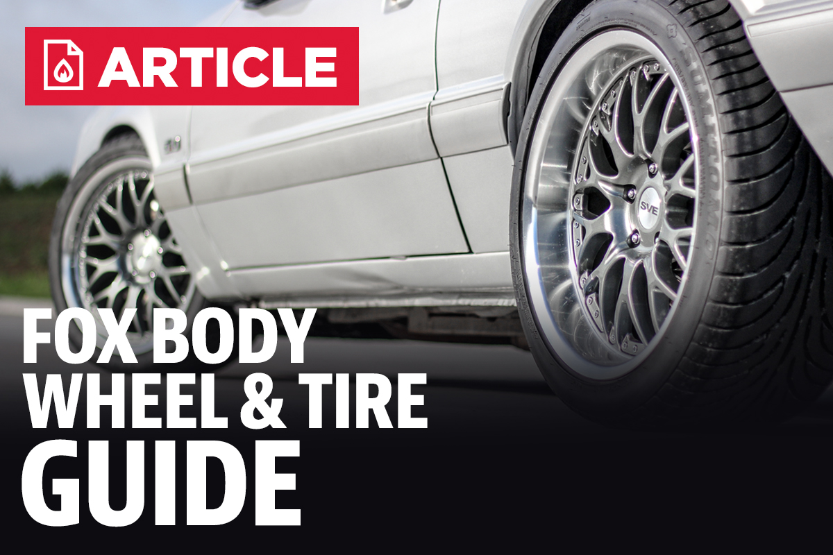 Fox body wheel and tire guide