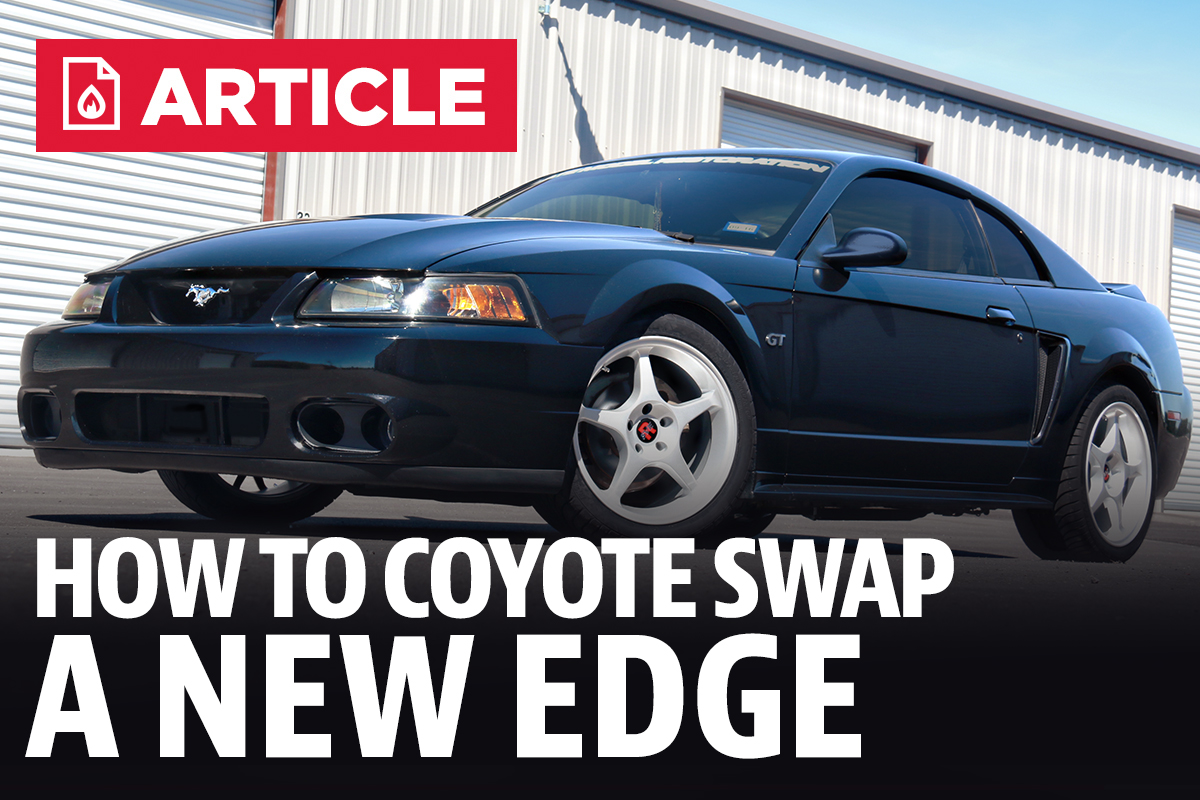 How To Coyote Swap A New Edge Mustang 1994 Ford 5 0 Truck Engine Parts Diagram