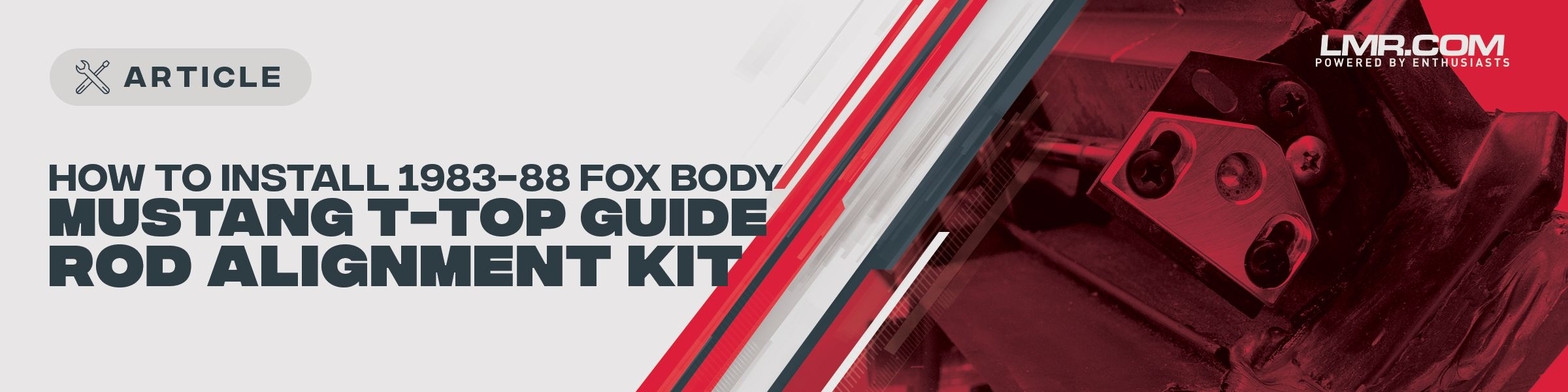 How To Install Fox Body Mustang T-Top Guide Rod Alignment Kit | 83-88 - How To Install Fox Body Mustang T-Top Guide Rod Alignment Kit | 83-88