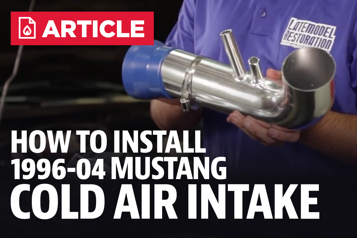 How To Install Mustang Cold Air Intake 96 04 Lmr 1996 Fuel Filter
