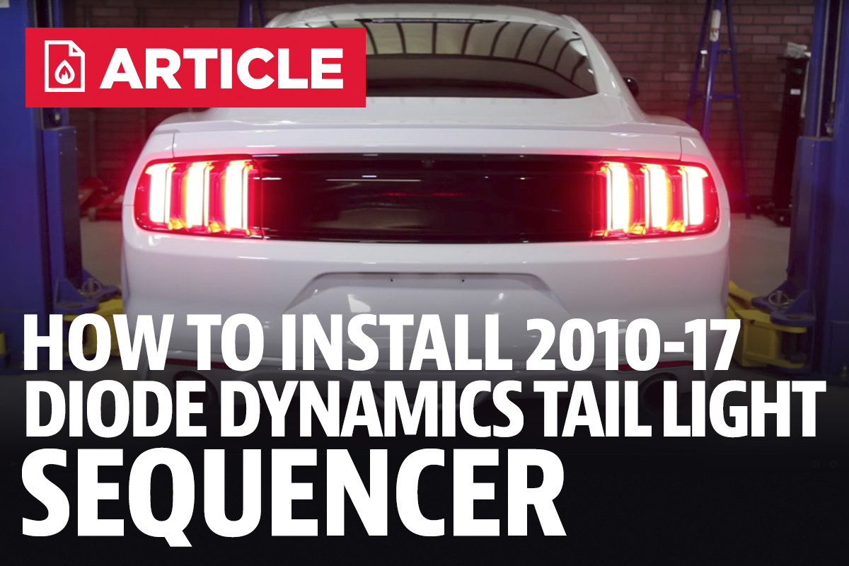 How To Install Mustang Diode Dynamics Tail Light Sequencer 10 All Fitting Wiring For Brake Front And Rear Need Help Drz 400