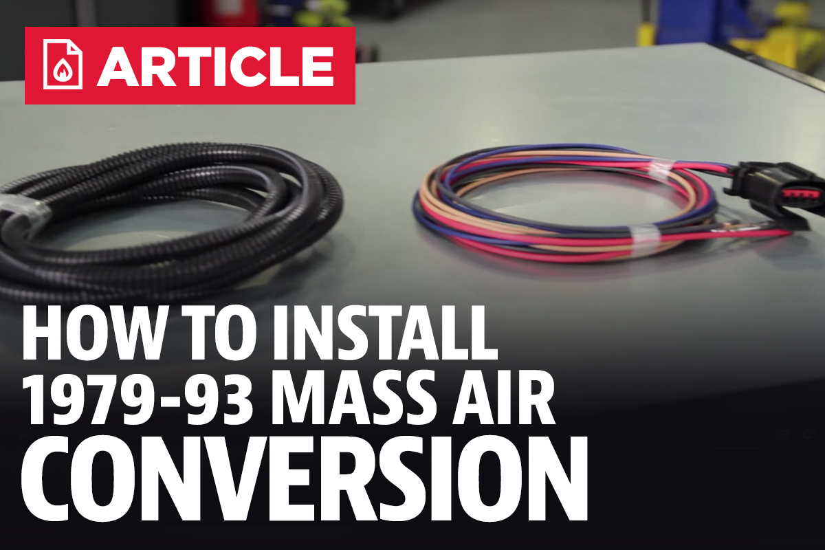How To Install Fox Body Mustang Mass Air Conversion 86 88 Aac Disconnect Wiring