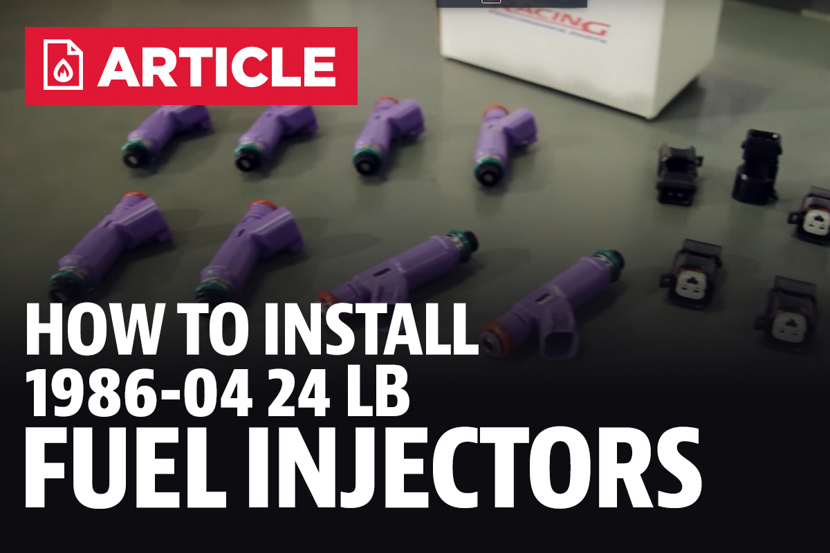 How To Install Mustang Ford Performance 24lb Fuel Injectors 86 04 Filter Location