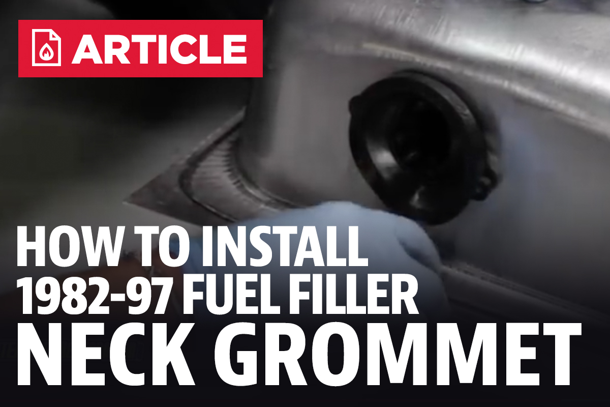 How To Install Mustang Fuel Filler Neck Grommet 82 97 94 Filter Location