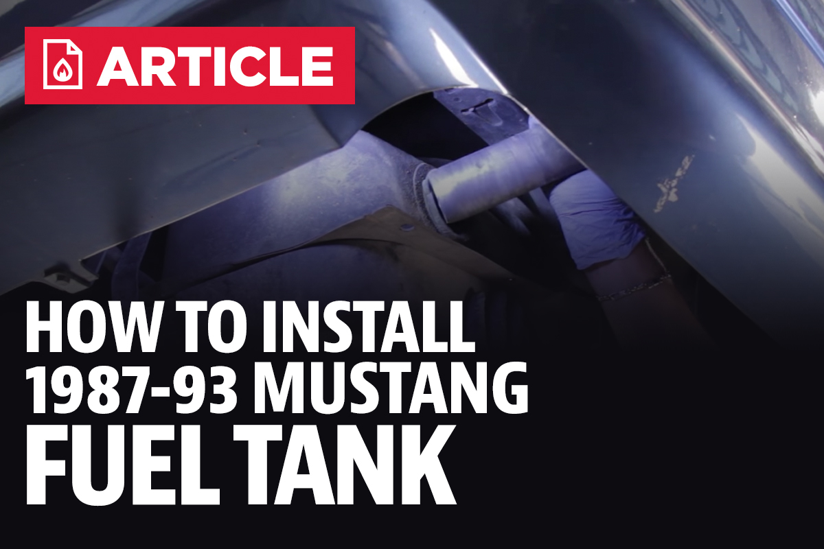 How To Install Mustang Fuel Tank 87 93 1994 Gt Filter