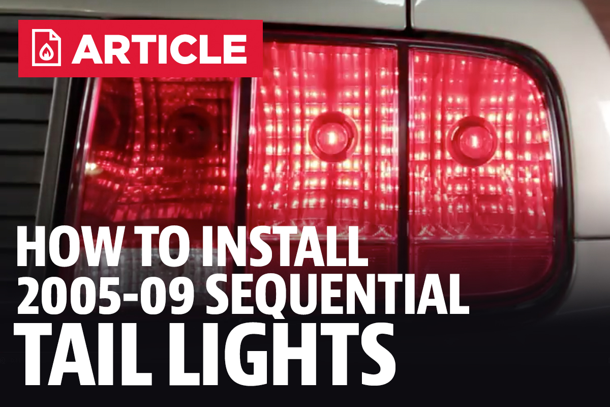 How To Install Mustang Sequential Tail Light Kit 05 09 Turn Signal Wiring Diagram