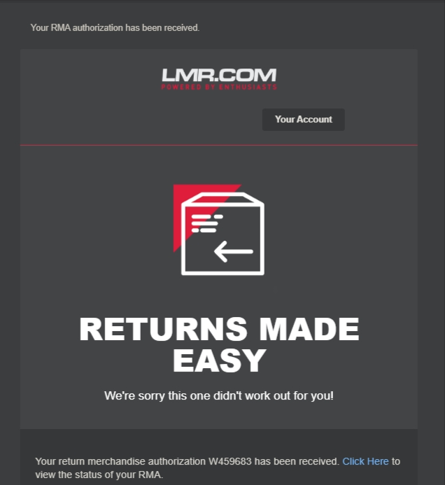 LMR RMA Return Process - LMR RMA Return Process
