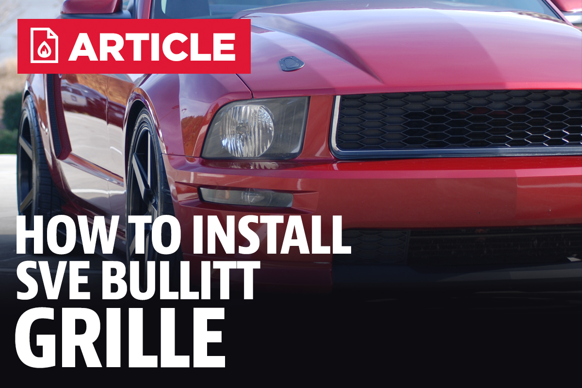 Sve Mustang Bullitt Style Grille 05 09 Gt Alternator Wiring Diagram 93 F 150 Lightning How To Install
