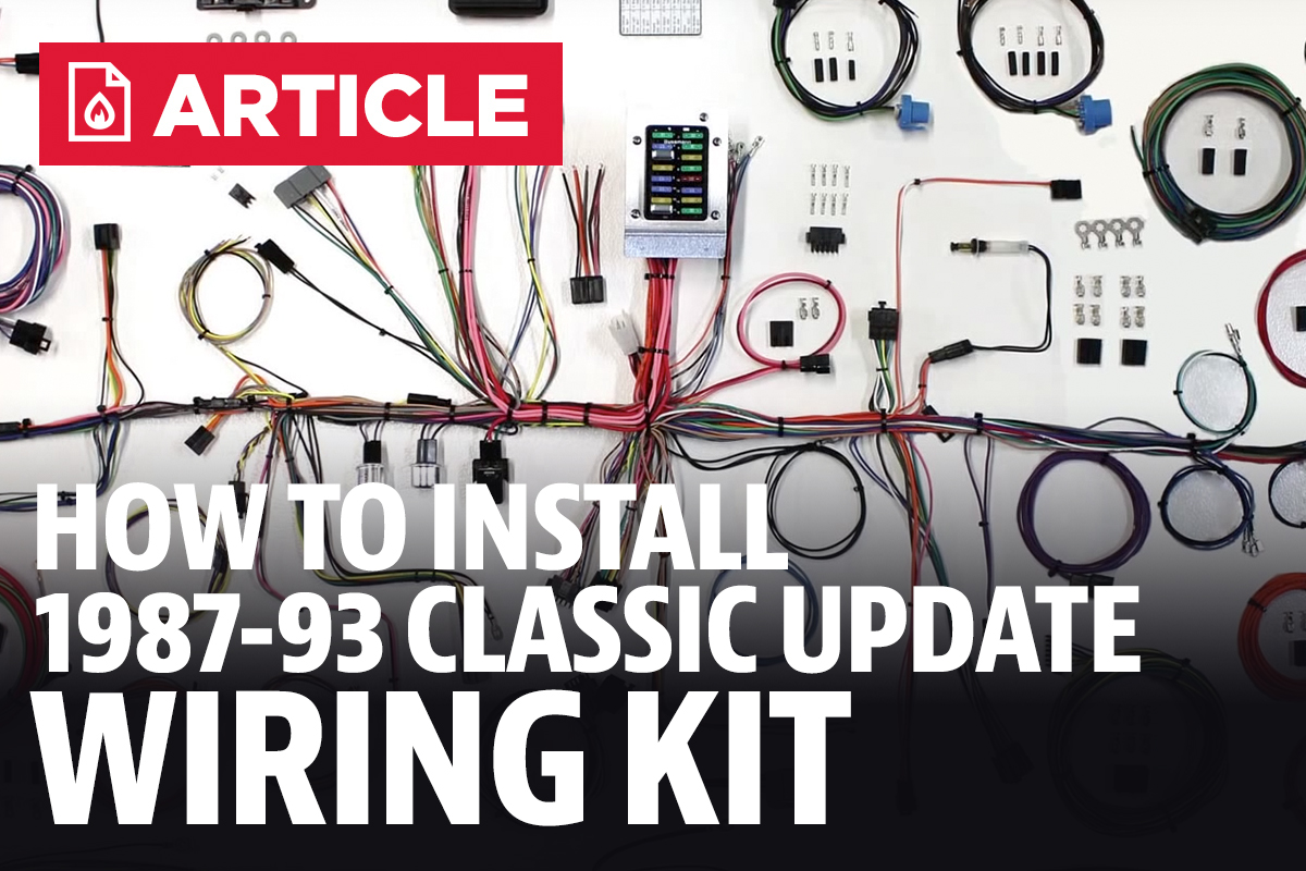 How To Install Fox Body Mustang Classic Update Wiring Kit 87 93 1990 Gt Dash Harness