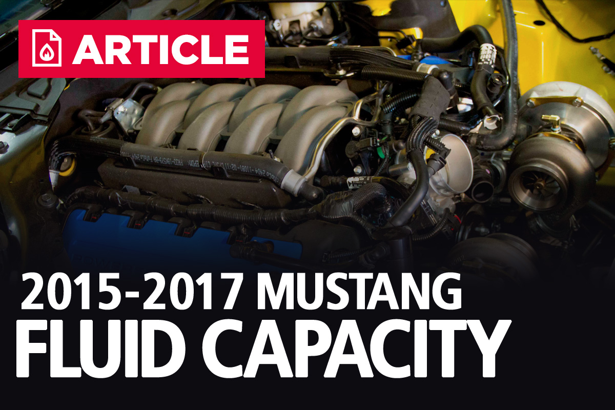 Ford Mustang Fluid Capacities 2017