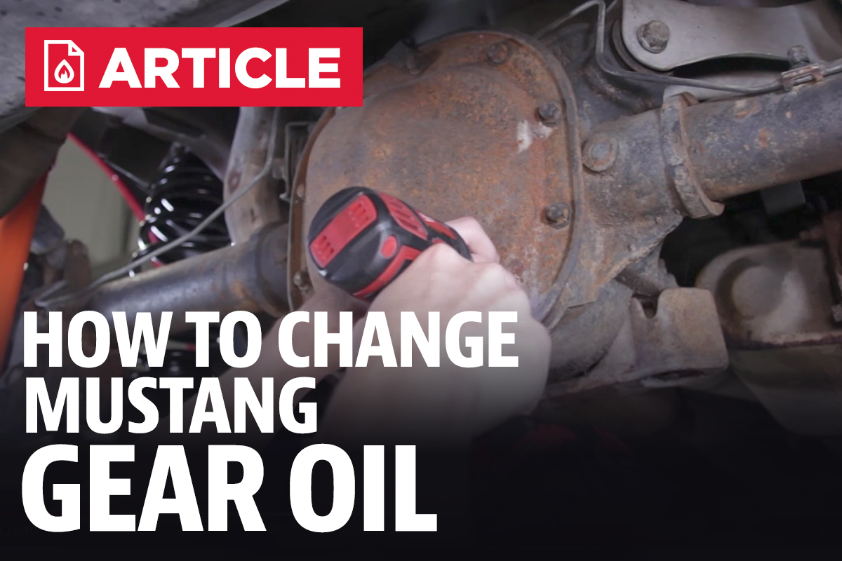 How To Mustang Differential Fluid Change 86 Fuel Filter Location