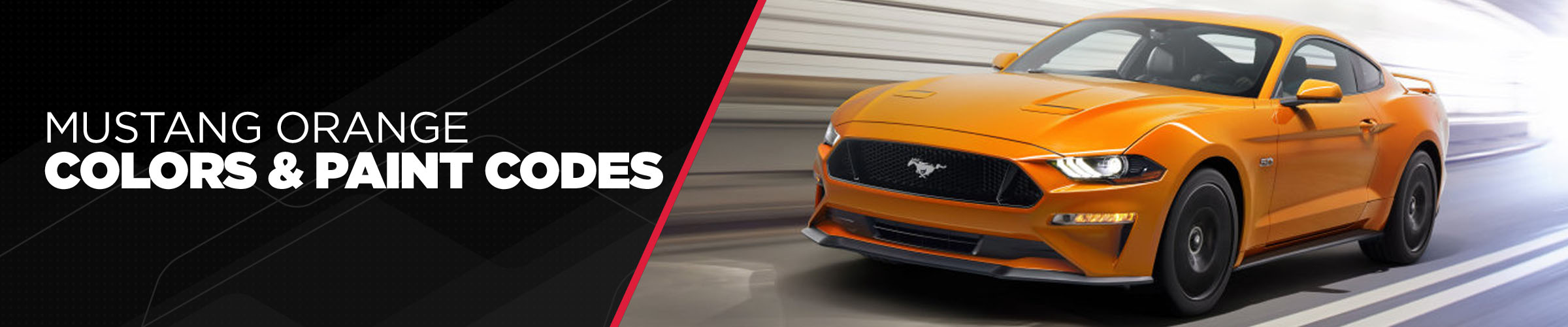 Mustang Orange Colors & Paint Codes