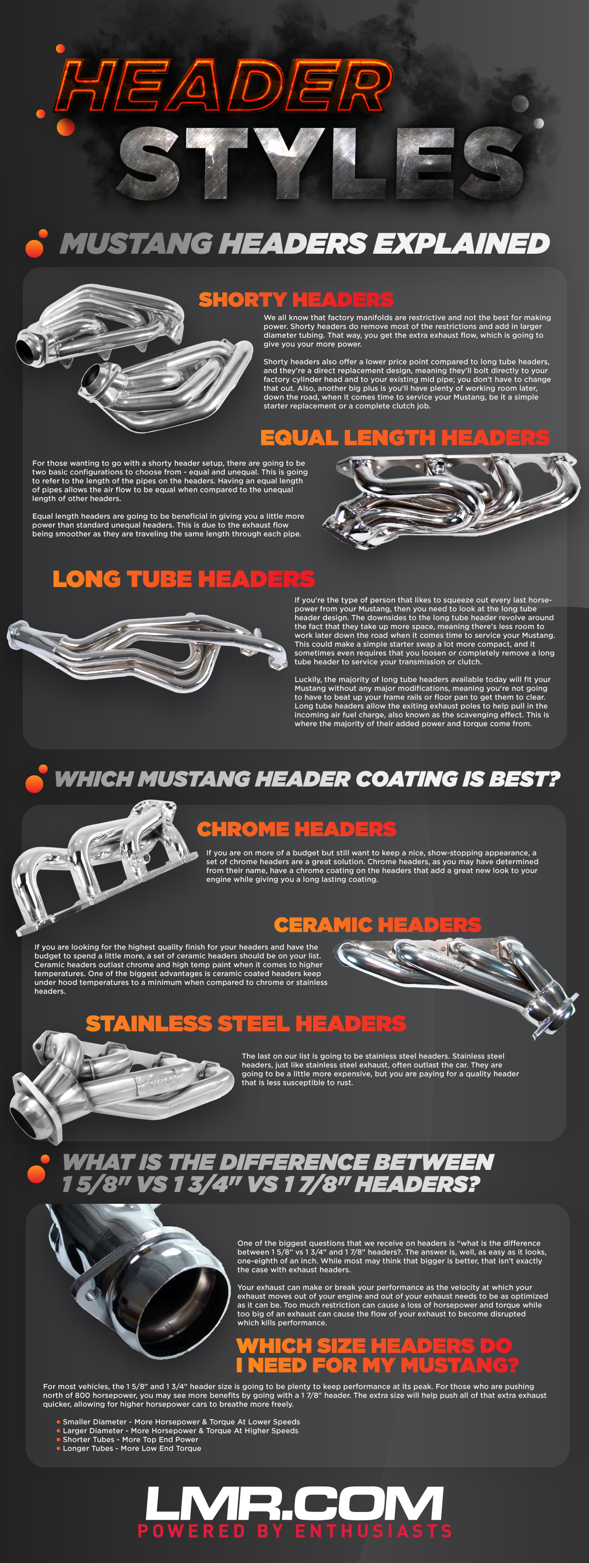 Mustang Shorty vs Long Tube Headers - Mustang Shorty vs Long Tube Headers