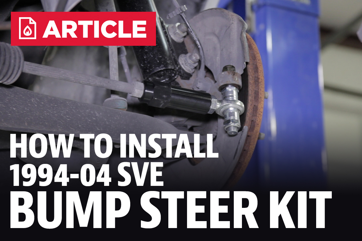 Newest 94 04 Mustang Posts 1994 Gt Fuel Filter How To Install Sve Bump Steer Kit