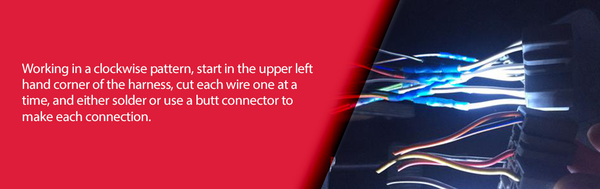 How To Orientate & Splice Wiring Harnesses - How To Orientate & Splice Wiring Harnesses