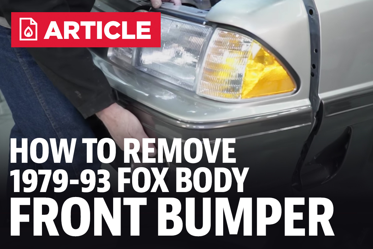 How To Remove Fox Body Front Bumper 2000 Ford Mustang Door Panel Removal