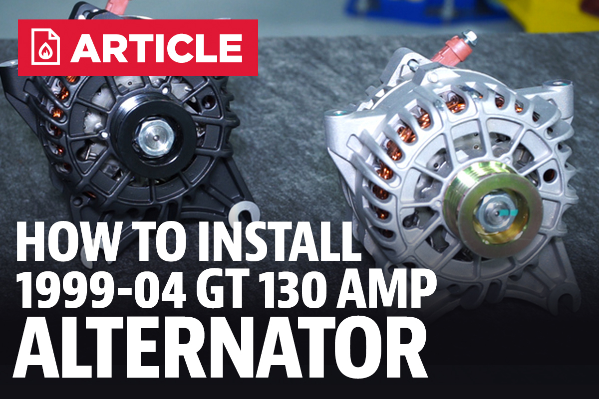 How To Install Mustang Alternator 1994 2004 Lmr 2002 Ford Fuel Filter Connector