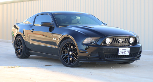 What Is An S197 Mustang? - Black 2014 Mustang On SVE Drift Wheels